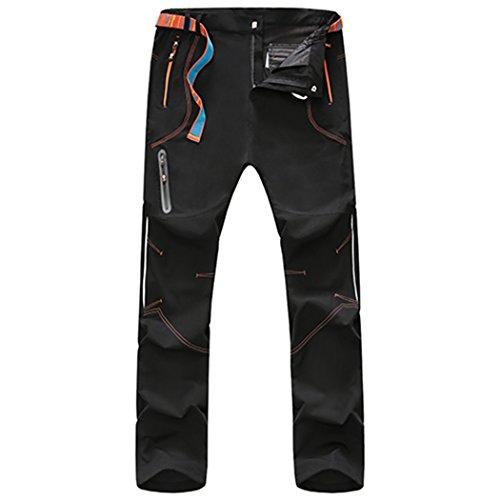 walk-leader da uomo antivento escursionismo, arrampicata pantaloni/pantaloni Black X-Small