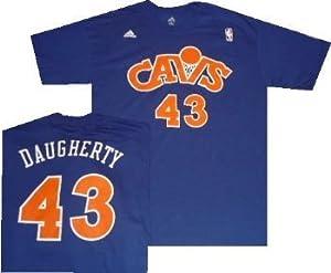 Cleveland Cavaliers Brad Daugherty Throwback Blue Adidas Shirt by adidas