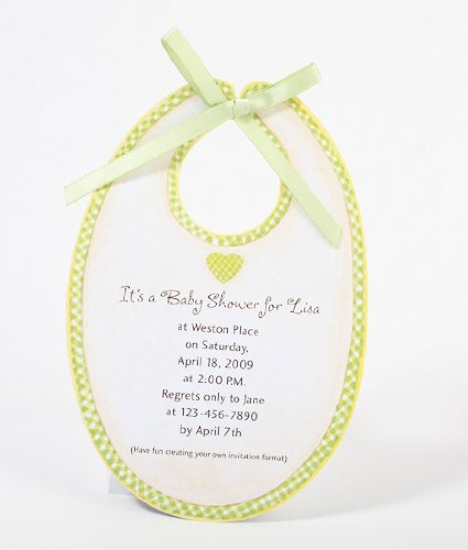 Baby Bib Shaped Announcement or Baby Shower Printable