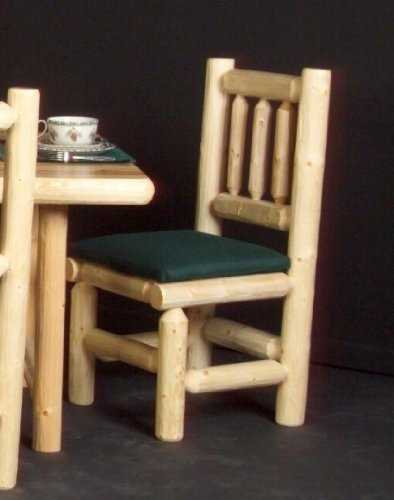Viking Log Furniture Log Dining Chair  wood Seat