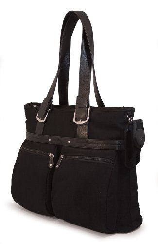 Mobile Edge 16-Inch PC/17-Inch MacBook ECO Friendly Laptop Tote (Black)