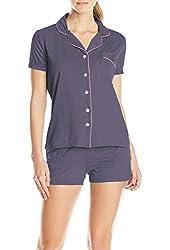 Ekouaer Women's Sleepwear Viscose Pajama Set with Pj Shorts XS-XL