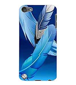ColourCraft Lovely Feathers Design Back Case Cover for APPLE IPOD TOUCH 5