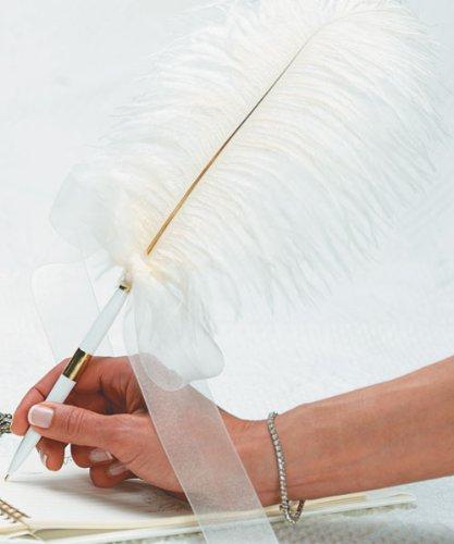 Weddingstar-Plume-Pens-White-Pen-with-Elegant-Round-Base