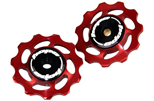 HOPE Mountain Bike Bicycle Replacement Derailluer Jockey Wheels 11T RED