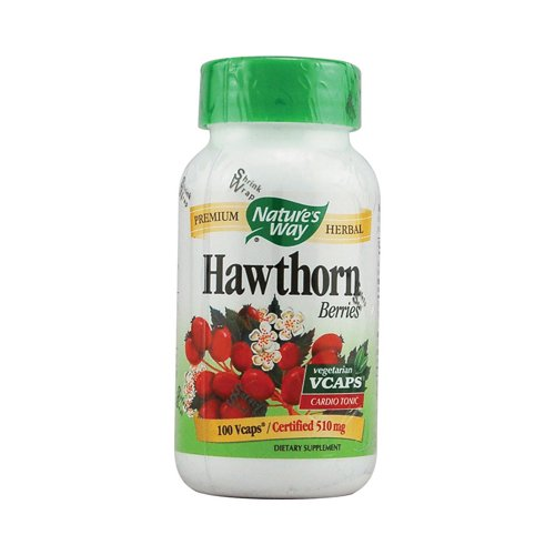 Nature'S Way Hawthorn Berries 510 Mg 100 Vcaps