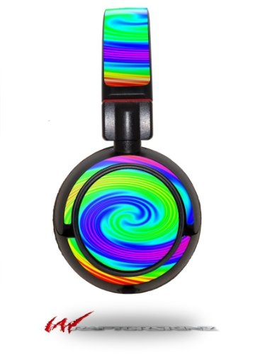 Rainbow Swirl - Decal Style Vinyl Skin Fits Sony Mdr Zx100 Headphones (Headphones Not Included)