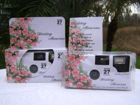 10 Pack Roses of Love Wedding Disposable 35mm Cameras In Matching Gift Boxes- 27 Exposures Each- With Matching Table Tents