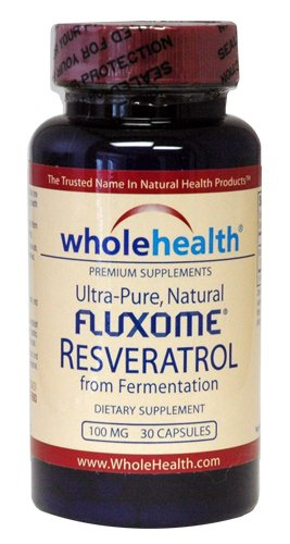 Ultra-Pure, Natural Fluxome Resveratrol From Yeast Fermentation, 30 Capsules, 100Mg Trans-Resveratrol Per Capsule