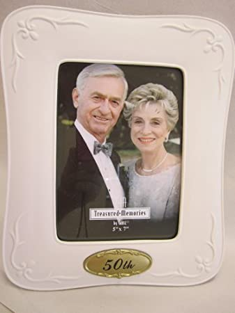 50th Wedding Anniversary Frame – Holds 5″ X 7″ Photo By Ganz