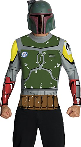 Morris Costumes Men's Boba Fett Top Cape Mask Adult Costume, Medium