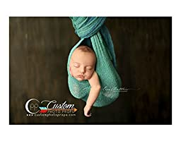 Birdy Blue Stretch Newborn Baby Wrap, Newborn Photo Props, Photography Props, Baby Props, Custom Photo Props