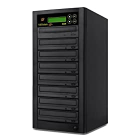 Copystars Dvd-Duplicator Sata CD DVD M-disc Burner 1 to 7 Copier 24X DVD Duplication Tower- 128MB buffered