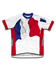 France Flag Short Sleeve Cycling Jersey for Women