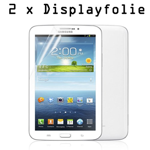 2x Folie Samsung GALAXY Tab 3 7.0 Zoll (Jahr 2013) SM-T210 / T211 / T215 / P3200 / P3210 Display Schutz Tablet