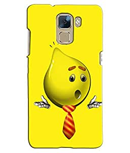 EU4IA Smiley Pattern MATTE FINISH 3D Back Cover Case For Huawei Honor 7 - D294