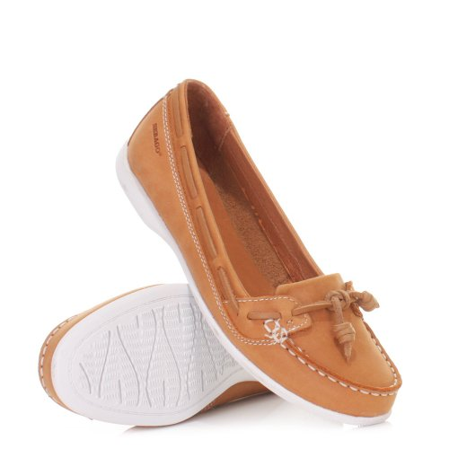Womens Sebago Felucca Lace Brown Leather Deck Shoe SIZE 3-7.5