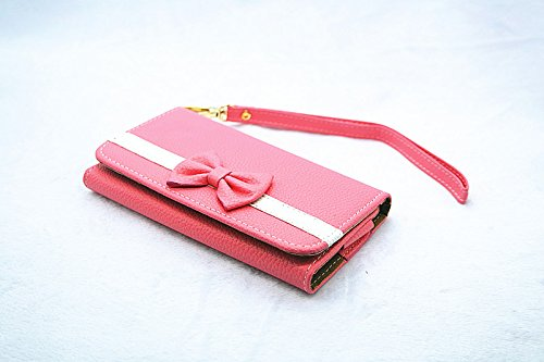 pink 3D Bow-knot Bag Wallet PU Leather Flip Leather Wallet Case Pouch Cover For Samsung Galaxy S Blaze 4G SGH-T769 T-Mobile