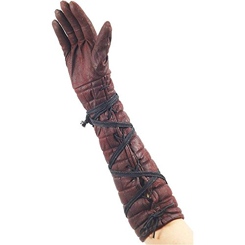 Medieval Female Warrior Brown Gloves - One Size