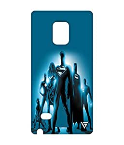 Vogueshell DC Superheros Printed Symmetry PRO Series Hard Back Case for Samsung Galaxy Note 4