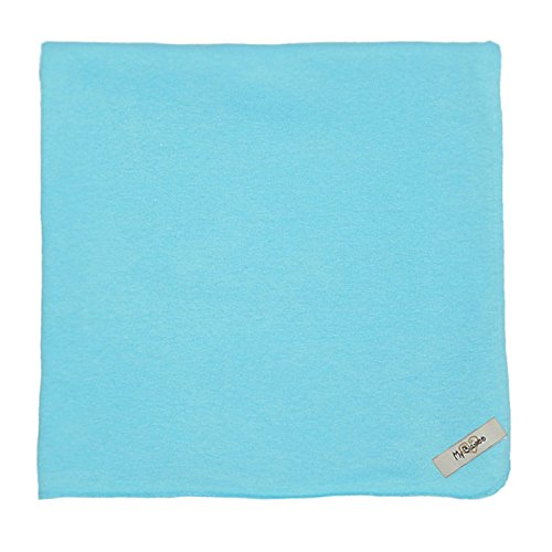 "My Blankee Organic Cotton  Jersey Knit Swaddle Baby Blanket, 47"" X 47"", Aqua"