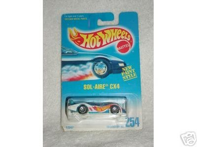 Hot Wheels 1991 Sol-Aire CX4 Collector #254 1:64 Scale - 1
