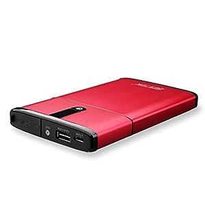 BESTEK ジャンプスターター 12V車用薄型エンジンスターター 5400mAh モバイルバッテリー USB両面挿しタイプ出力