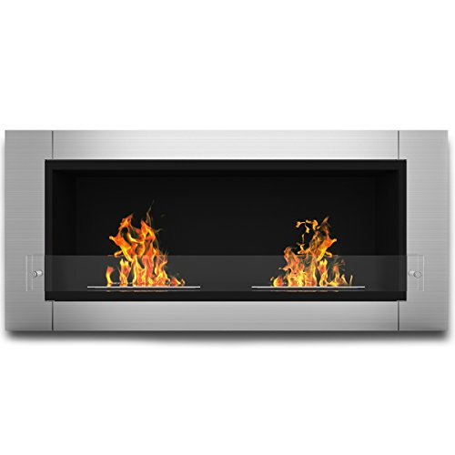 Elite Conflagration Fargo Ventless Bio Ethanol Recessed or Wall Mounted Fireplace