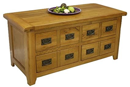 Rustic Oak Coffee Tables Rustic Oak Coffee Table With