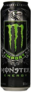 Monster Energy Import Drink, 18.6 Ounce (Pack of 12)