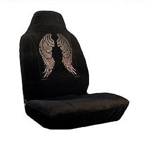 Angel Wings Crystal/Diamond/Rhinestone Bling Seat Covers- Pair