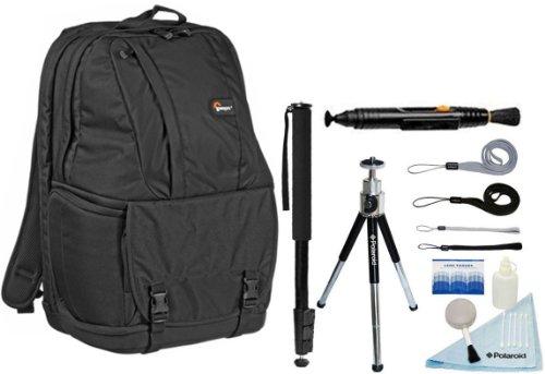 Lowepro Fastpack 350 Slr/Notebook Backpack + Accessory Kit For Canon Eos Rebel T3/T3I/T2I/T1I/Eos 1D Mark Iii/1D Mark Iv/1Ds Mark Ii/5D/7D/20D/30D/40D/50D/60D/Xs/Xsi/Xti Slr Cameras-Black