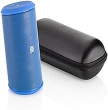 JBL Flip 2 Haut Parleur Stéréo Rechargeable Petit Format Sans Fil avec Micro Intégré et Housse de Transport Compatible avec Apple iOS et Appareils Android Incluant Smartphones, Tablettes et Lecteurs MP3 - Bleu