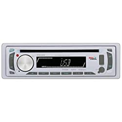 See Boss Audio MR648W SINGLE DIN MARINE CD RECEIVER WHITE FULL DETACHABLE FRONT PANEL Details
