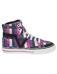 Vans Hi Top Susie Hi V Plaid Black/White/Purple/Pink Sneakers Size 2.5 Kids