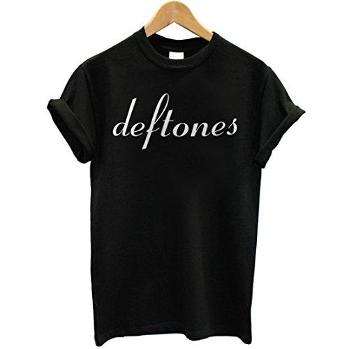 T-shirt Uomo - Deftones maglietta con stampa rock 100% cotonee LaMAGLIERIA,XL, Nero