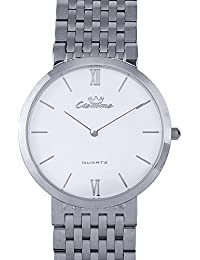 Valentine Gifts : Ciemme Valentine Sale Luxury Swiss Ronda Quartz Movement White Dial Mineral Crystal Glass Watch...