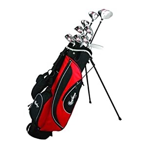 Confidence Golf ESP Mens Graphite & Steel Hybrid Club Set + Stand Bag