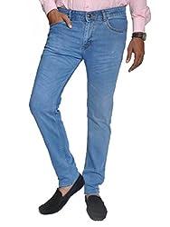 Scorzio Men's Regular Fit Jeans (SZ0010_3_Blue_34)