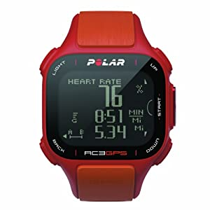 Polar RC3 GPS with Heart Rate Monitor, Red Orange by Polar