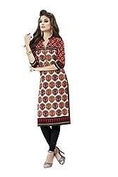 PADMiNi Ethnicwear Women's Kurti Fabric Beige Free Size