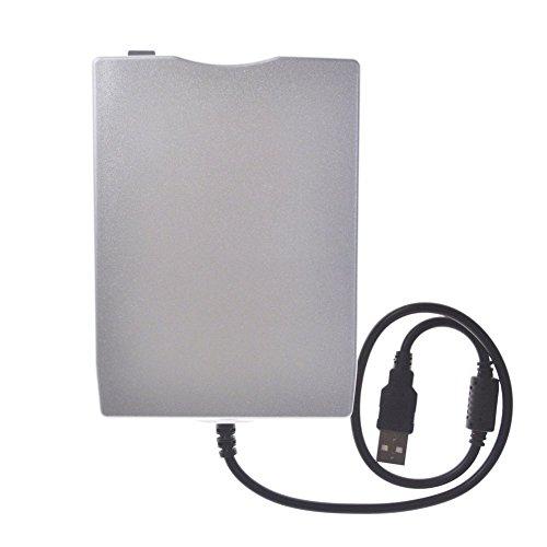 huatuo® disquette externe USB 2.0FDD portable-compatible avec Windows Windows 98SE/Me/2000/XP/Win7/Vista/Mac/OS8.6  - argent