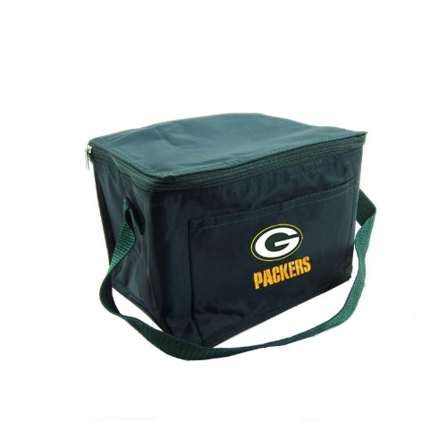 Lunch Box/6-pack Cooler With Front Pocket and Zipper Lid Featuring NFL Team Logo Design - Green Bay Packers at Amazon.com