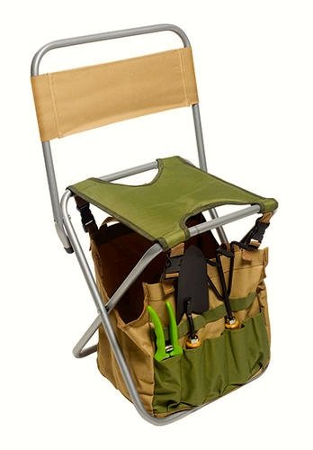 5 Piece Garden Tool Kit With Folding Seat