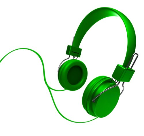 Ihip Ip-Djz16-Ngr Dj Style Moveable Round Djz Color Series Headphone, Green