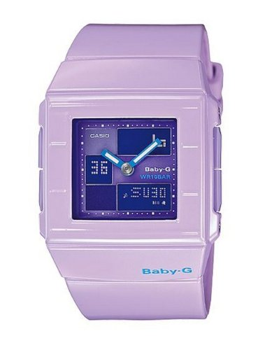 a492133a3cb5 Casio Women s Baby G BGA200 6E Purple Resin Quartz Watch with Purple Dial