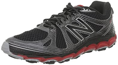 New Balance Men's MT810 Trail Running Shoe,Black/Red,12 D US