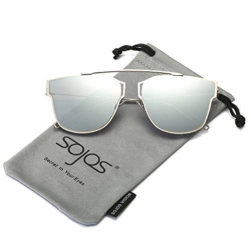 sojos-modern-womens-mens-ultra-light-metal-frame-mirror-flat-lens-sunglasses-sj1008-with-silver-fram