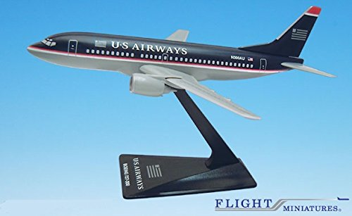 US Airways (97-05) 737-300 Airplane Miniature Model Plastic Snap Fit 1:200 Part# ABO-73730H-019 (Us Airways Model Airplane compare prices)