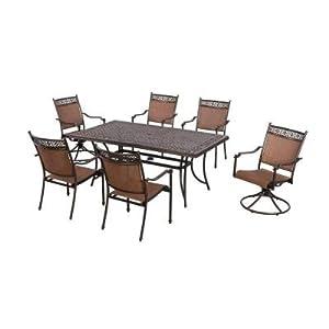 Amazon Com 7 Piece Furniture Sling Patio Dining Set